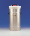 KGW Isotherm 31CAL Large Insulating Dewar Flask with Side Grips,  10 Litre Capacity, Stucco Aluminum Casing with Structured Aluminium Cover