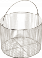 Certoclav 8583010 Wire Basket With Handle, Stainless Steel 23cm ø,   Internal 225 mm X 170 mm, Mesh 1/4 Inch