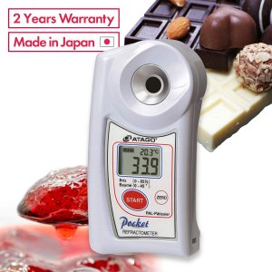 Atago 4508 Digital Brix and Sugar Baume Refractometer, PAL-Pâtissier PAL SERIES, Brix : 0.0 to 85.0 % Sugar Baume : 0 to 45° Measurement Range