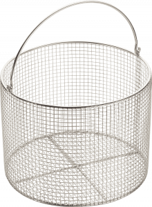 CertoClav 8583010 Wire Basket with Handle, Stainless Steel 23cm,  ø internal 225 mm x 170 mm, Mesh 1/4 inch