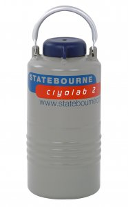 Statebourne Cryogenics 9901015 Cryolab 2, High Performance Laboratory Aluminium Dewars, 2 Litres LN2 Capacity