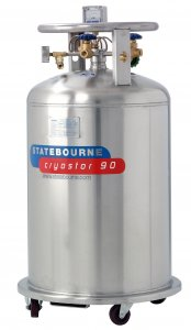 Statebourne Cryogenics 9911045 Cryostor 90 Stainless Steel Low Pressure LN2 Dewars 90 Litres for storage and dispensing liquid nitrogen