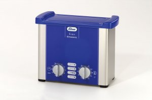 Elma 100 1214 Elmasonic S Series S10H, Analogue Ultrasonic Cleaning Bath with Heating 0.8 Litre Capacity, 220-240V
