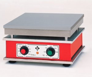 Harry Gestigkeit TH 13, Eloxidised Aluminimum Alloy Hotplates,  with Performance Control and Thermostatic Controller, 130..370°C, 2400W, 440x290mm