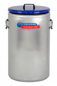 Statebourne Cryogenics 9915115 Biostor OD Maxi 80 Stainless Steel Open Dewar , 66 Litres, Includes Handles and Lids