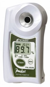 Atago 3852 Digital Pocket Brix and Refractive Index Refractometer, PAL-BX/RI PAL Series, Brix : 0.0 to 93.0 %,  Refractive Index : 1.3306 to 1.5284 Measurement Range
