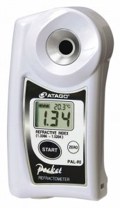 Atago 3850 Digital Refractive Index Refractometer, PAL-RI PAL Series, Refractive Index : 1.3306 to 1.5284 Measurement Range