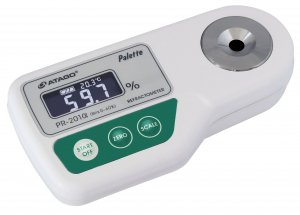 Atago 3452 Digital Portable Brix Refractometer, PR-201α PALETTE Series, Brix : 0.0 to 60.0% Measurement Range