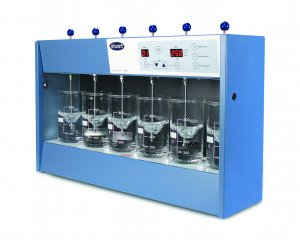 Stuart Scientific SW6 Six Position Flocculator, with 6 Rotators (without beakers), 230V, 50Hz, 200W