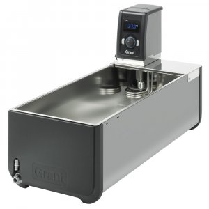 Grant Instruments T100-ST38 Optima™ Heated Circulating Bath, 38 Litre Stainless Steel Tank and Immersion Thermostat, Ambient +0°C to 100°C Temperature Range