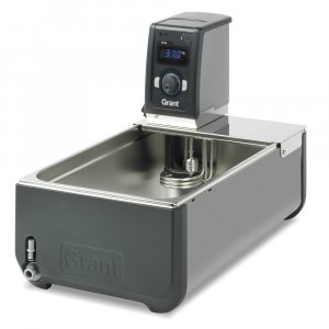 Grant Instruments TC120-ST18 Heated Circulating Bath, 18 Litres Stainless Steel Tank & Immersion Thermostat, Ambient +0 to 120°C Temperature Range