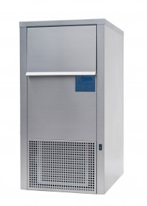 Ziegra ZBE 110-35 CoolNat Floor Standing Stainless Steel Laboratory Granular Flake Ice Machine, 110Kg Nominal Production  with 35kg Storage Capacity