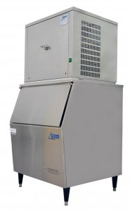 Ziegra ZBE 150-S130 CoolNat Floor Standing Stainless Steel Granular Flake Ice Machine,  150Kg Nominal Production, and 130Kg Storage Capacity