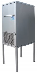 Ziegra ZBE 70-35 CoolNat Floor Standing Stainless Steel Laboratory Granular Flake Ice Machine, 70Kg Nominal Production with 35kg Storage Capacity