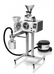 Retsch Cross Beater Mill SK 300, with cross beater, baffle plates, 240 mm filter hose and collecting receptacle (please order bottom sieve and optional base frame separately)