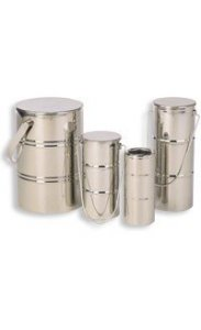 Statebourne Cryogenics 9915020 Biostor OD Mini 1 Stainless Steel Open Dewar , 0.9 Litres, Includes Handles and Lids