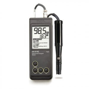 Hanna Instruments HI-9142 Simple-to-Use Portable Dissolved Oxygen Meter with Polarographic probe