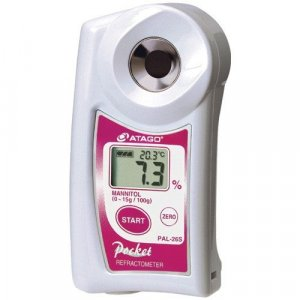 Atago 4426 PAL-26S Digital Hand-Held Pocket Mannitol Refractometer,  0.0 to 15.0% Range
