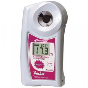 Atago 4452 PAL-52S Digital Hand-Held Pocket Potassium Iodide Refractometer,  0.0 to 30.0% Range