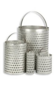 Statebourne Cryogenics 9915096 Perforated Basket for OD 25, Stainless Steel Open Dewars