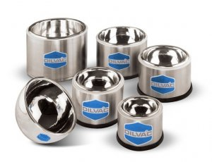Day Impex™  SS77Sh Dilvac Dewar Flasks, 0.17 Litre Stainless Steel Container, Shallow Form, No Handle or Lid, 105mm x 75mm