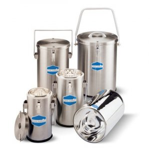 Day Impex™ SS700 Dilvac Dewar Flasks, 7 Litre Stainless Steel Container with Clamp Lid Attachment,  Vent and Handle, 245mm x 335mm